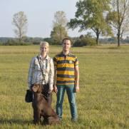 Con Ilka Pedersen y Jola von Neuarenberg mejor ejemplar en el campo CACIT